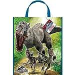 """Unique Large Plastic Jurassic World Favor Bag, 13"""" x 11"""""""