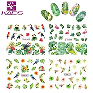 KADS Nail Art Sticker Water Stickers &3D Stickers For Nails Water Transfer (Flower New) (Color: Flower New)