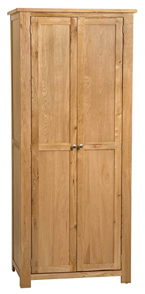 Waverly Oak Full Hanging Wardrobe in Light Oak Finish | Solid Wooden Children's /Kids / Gents / Double Robe