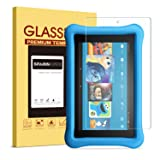 2017 All-New Fire 7 Kids Edition Screen Protector, SPARIN Tempered Glass for All-New Fire 7 Kids Edition Tablet (7th Gen, 2017 Release) with Bubble Free/Scratch Resistant/HD Clear (Color: Clear)