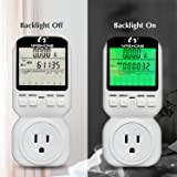 Nashone Digital Electric Power Meter, Smart Home Energy Consumption Monitor,Wall Plugged with Timer LCD Display Overload Alarm (Color: White)