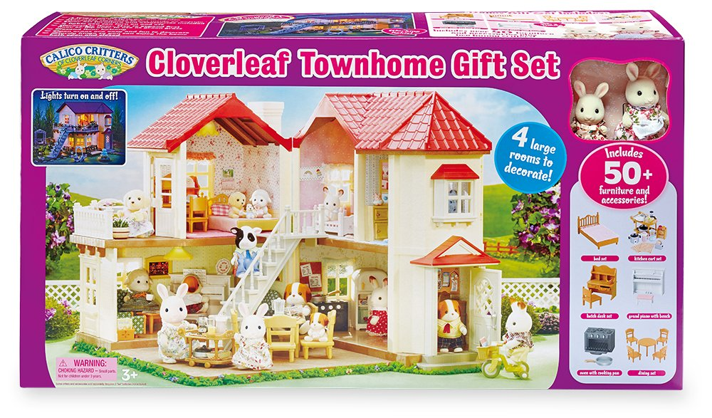Calico Critters Cloverleaf Townhome Gift Set With Accessories