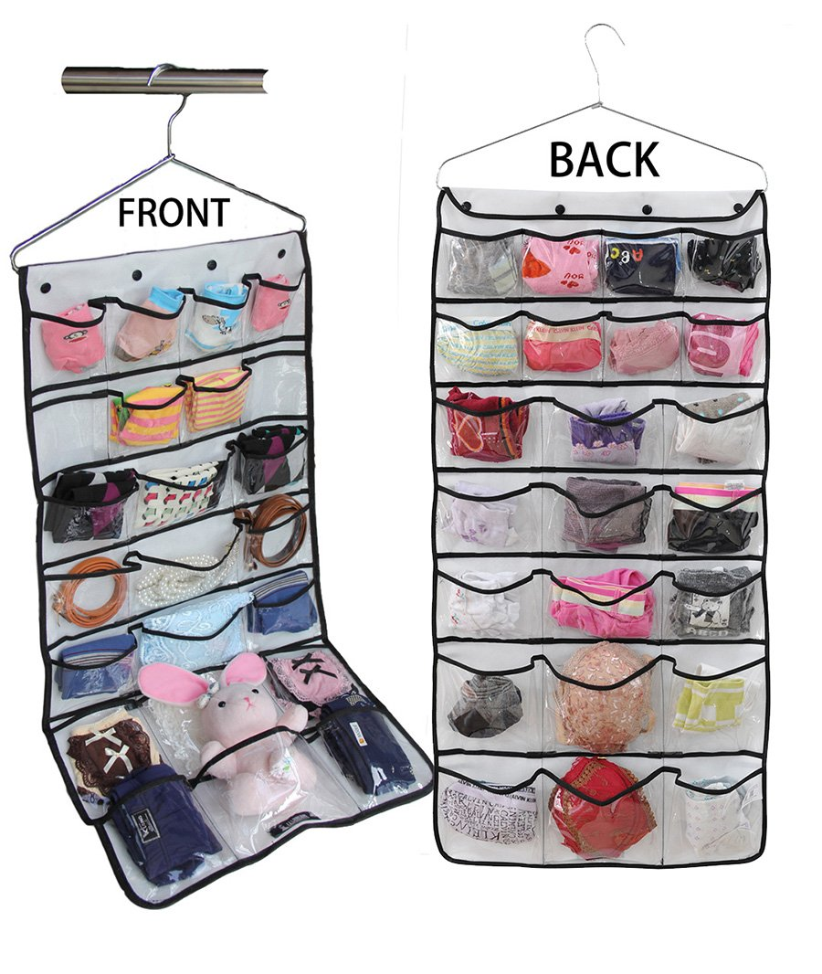 Misslo® Hanging Closet Dual-sided Organizers Bra Underwear Socks Ties Storage