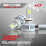 Optix 80W 8000LM LED Headlight Conversion Kit - H7 Low Beam/High Beam/Fog Light Bulbs - 6000K 6K Diamond White - Premium Epistar COB Chip - Canbus Chip Error Free No Flicker Plug and Play Design