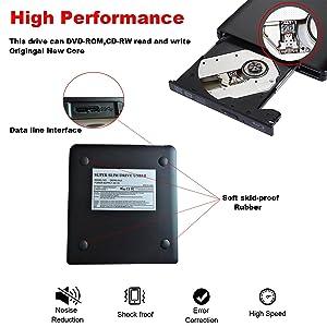 Guamar External Blue-Ray Drive,USB 3 0 Blu-Ray CD/DVD Burner