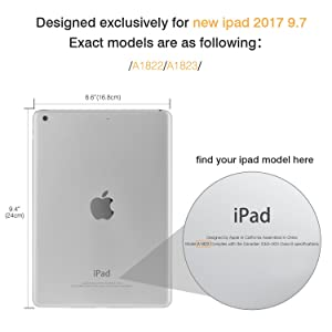 MoKo Case for iPad 9.7 2018/2017 - Slim Lightweight Smart Shell Stand Cover with Translucent Frosted Back Protector for Apple iPad 9.7 Inch(iPad 5, iPad 6, Rose GOLD (Auto Wake/Sleep)
