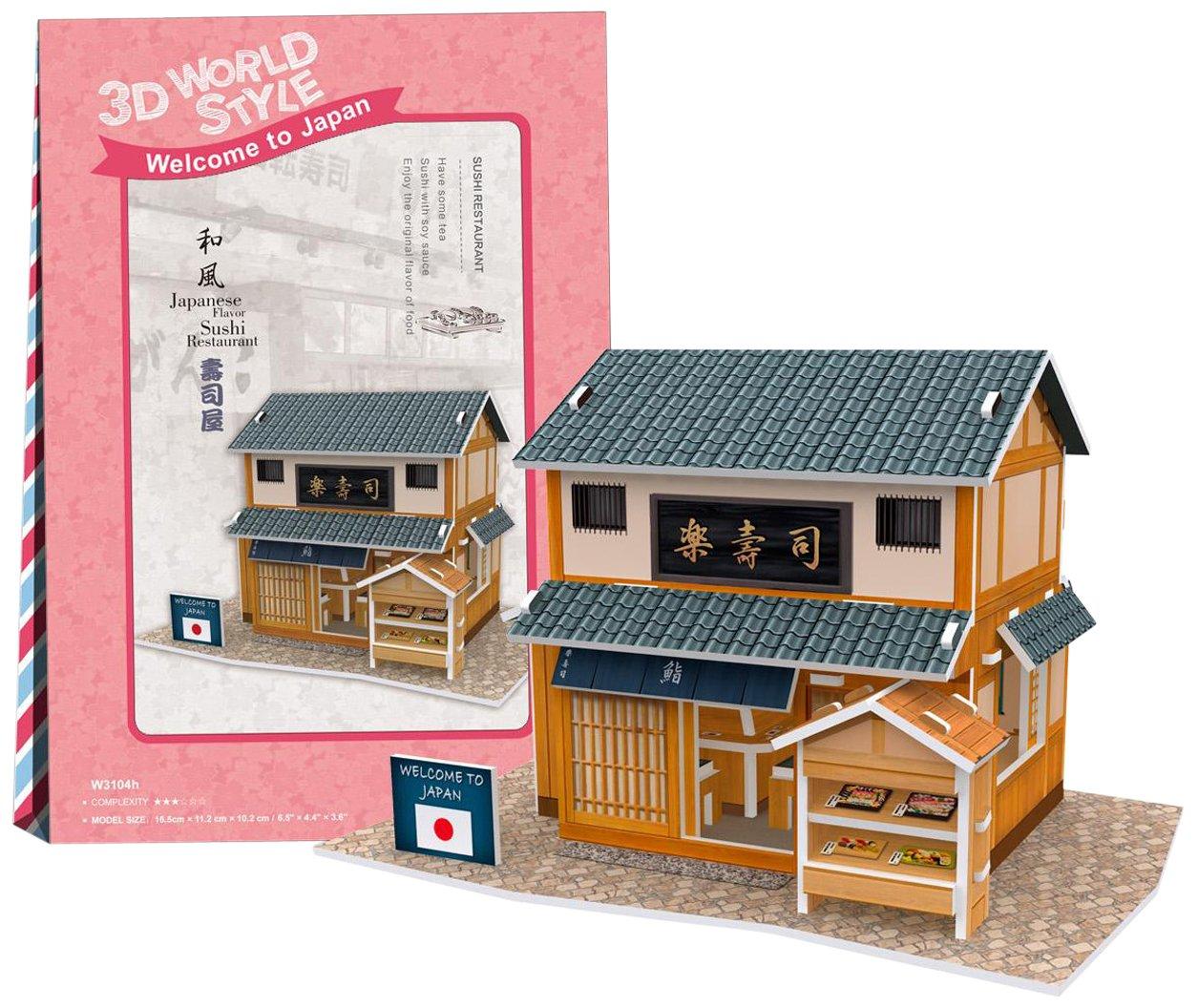 купить Cubicfun Cubic Fun 3d Puzzle Model 32pcs Japanese Flavor Sushi Restaurant недорого