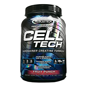 MuscleTech - Cell-Tech Hardgainer Creatine Formula - 3 lbs. (1400g) Watermelon