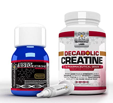 Anabolic Muscle Stack: Decabolic Creatine & Testo Extreme Anabolic - Strongest Legal Testosteron Booster / 10-Mischung Creatine Powder