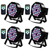 DJ Lights Missyee 36 X 1W RGB LEDs DJ Uplighting Package Sound Activated Stage Lights with Remote Control Compatible with DMX, 9 Modes LED Up Lights for Wedding Event Party Festival (4 Packs) (Color: 36Led (4 packs))