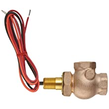 Gems Sensors FS-400 Adjustable Series Bronze Flow Switch, Elbow, Shuttle Type, NPT Female