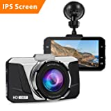 Dash Cam, 1080P HD Car DVR Dashboard Camera Recorder with 3'' IPS Screen, Night Vision, 170° Wide Angle, G-Sensor, WDR, Loop Recording and Motion Detection (Color: Black)