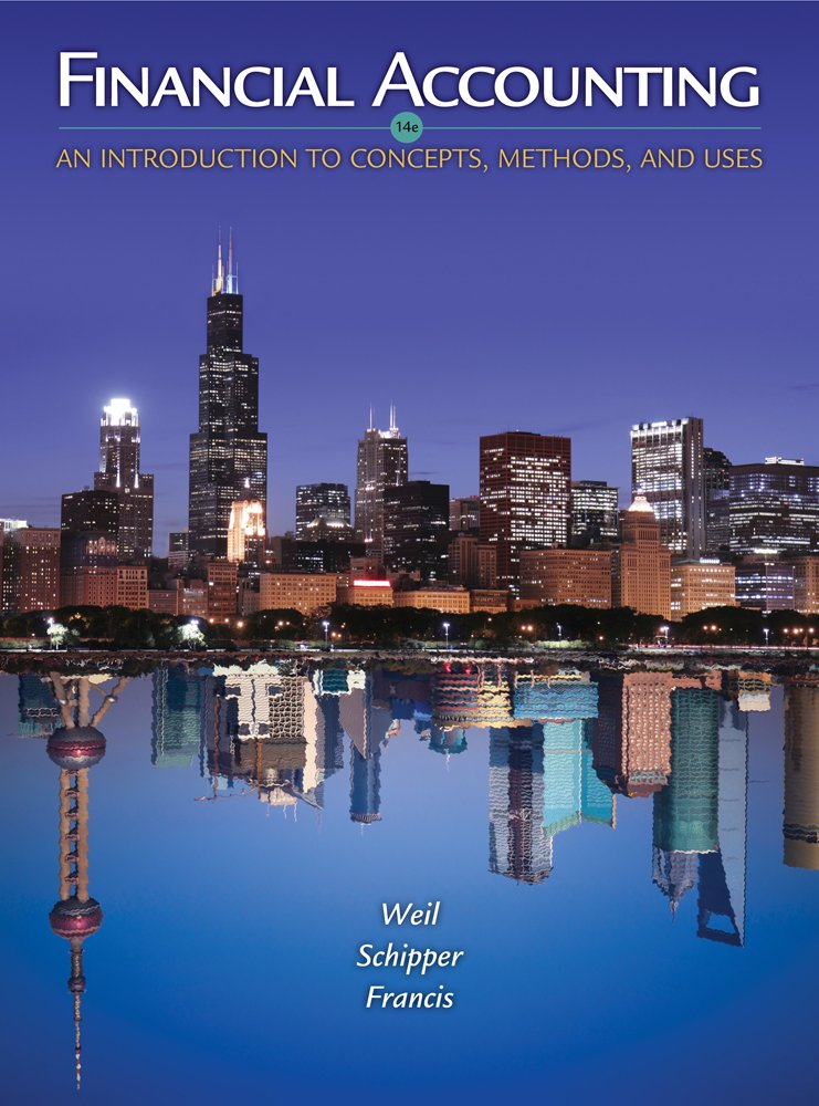 CengageNOW Online Homework System to Accompany Weil/Schipper/Francis' Financial Accounting: An Introduction to Concepts, Methods and Uses, 14th Edition, [Web Access], 1 term (6 months) lab manual to accompany accounting and information systems third edition