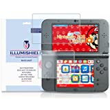 iLLumiShield - New Nintendo 3DS XL Screen Protector (2015) with HD Blue Light UV Filter and Lifetime Replacement Warranty / Premium High Definition Clear Film / Reduces Eye Fatigue and Eye Strain - Anti- Fingerprint / Anti-Bubble / Anti-Bacterial Shield - [2-Pack] Retail Packaging Compatilble with: Nintendo 3DS LL Japanese Version (Color: UV Blue Light Screen Protector)