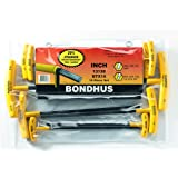 Bondhus 13138 Set of 10 Balldriver and Hex T-handles, sizes 3/32-3/8-Inch (3-Pack) (Tamaño: 3 Pack)