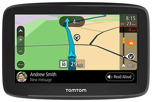 TomTom Smart Car GPS Navigation GO Comfort 5, 5-inch, with updates via WiFi, lifetime traffic and maps (US-CAN-MEX), TomTom roadtrips (Tamaño: 5 Inch)