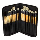 Mimik Hog Brush Deluxe 20 Piece Set w/ Leatherette Case