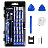 Precision Screwdriver Set, Apsung Magnetic Driver Kit, Professional Electronic Repair Tools Kit with Flexible Shaft, 64 in 1 with 58 Bits Screwdriver Kit for 8Plus, CellPhone, PC, Game Console etc (Color: Blue, Tamaño: 64in1)