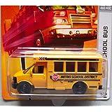 Matchbox City Action GMC School Bus (Color: Yellow, Tamaño: 1:64 Scale ~ 3