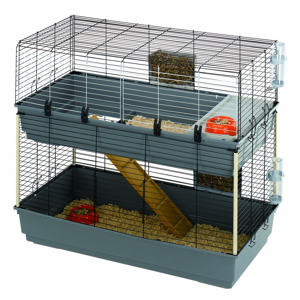 Ferplast Rabbit 120 Double Rabbit Cage, 118 x 58 x 102 cm