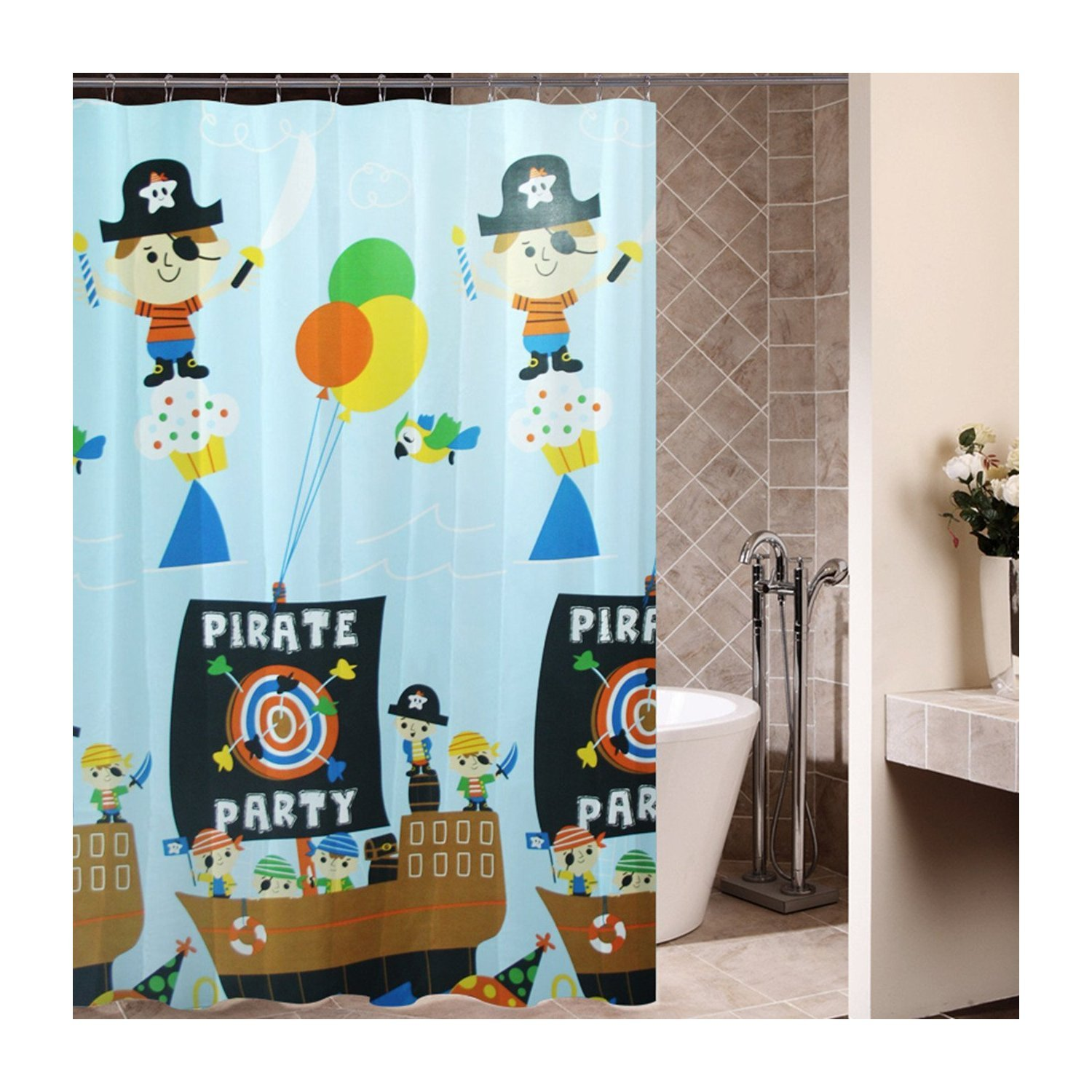 Best Kids Pirate Shower Curtain