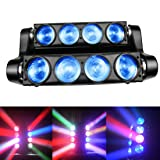 Spider Moving Head Strobe Light 100W,RGBW LED Stage Lighting, DMX DJ Light with Gobo Pattern for Party Disco Wedding KTV Club Party and More Performance Places (Color: 8*8W RGBW Cree LED)