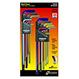 Bondhus 69600 Ball End Double Pack L-Wrench Set with ColorGuard, 13 Piece (Tamaño: 1-(Pack))