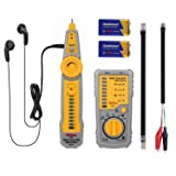 Wire Tracker, Tacklife CT01 Cable Toner RJ11 RJ45 Wire Tracer, Multifunctional Cable Tester for Ethernet Network Cable Collation, Telephone Wire Tester and Continuity Checker, Built-in Flashlight (Color: Yellow, Tamaño: CT01)