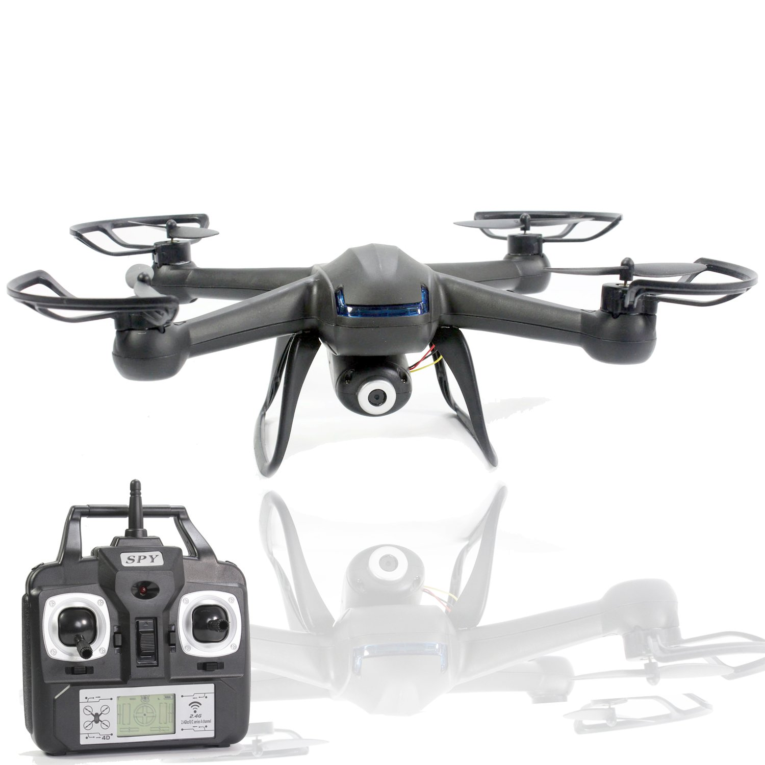 Spy Drone with Camera - X007 Quadcopter (3rd Gen) HD Camera 720p Video 2MP, 6 Axis Gyroscope, 7.4V Battery, 3D Flip Roll, 4 Ch 2.4 ghz Long Range with KiiToys USA Warranty