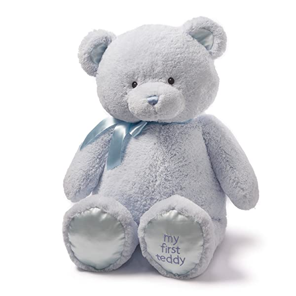 Baby GUND My First Teddy Bear Jumbo Stuffed Animal Plush, Blue, 36 (Color: Blue, Tamaño: 36 Jumbo)