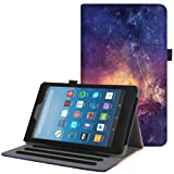 Fintie Case for All-New Amazon Fire HD 8 Tablet (7th and 8th Generation Tablets, 2017 and 2018 Releases) - [Multi-Angle Viewing] Folio Stand Cover with Pocket Auto Wake/Sleep, Galaxy (Color: Z- Galaxy, Tamaño: 8 Inch)