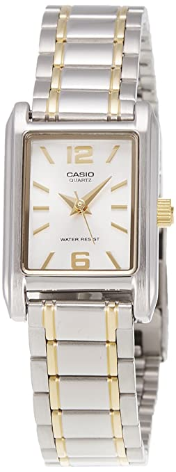 Casio Enticer Analog Silver Dial Women\
