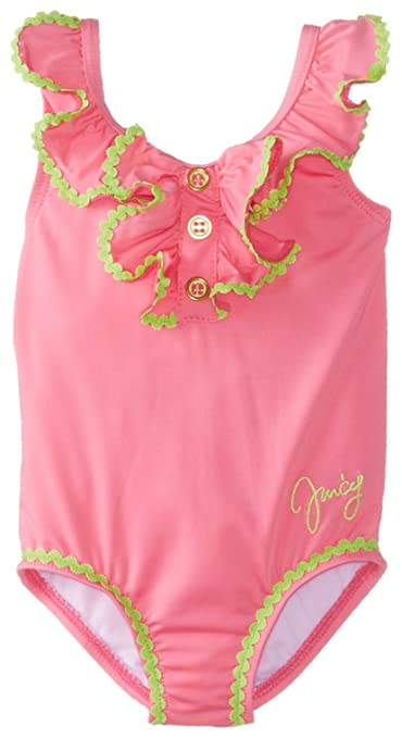 Juicy Couture Baby Baby-Girls Newborn Ruffle Swim Suit