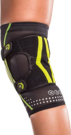 DonJoy Performance WEBTECH Short Knee Support Brace with Compression Undersleeve: Slime Green, X-Large (Color: Slime Green, Tamaño: X-Large)