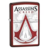 Zippo Lighter: Assassins Creed Logo - Candy Apple Red 79296 (Color: Candy Apple Red)