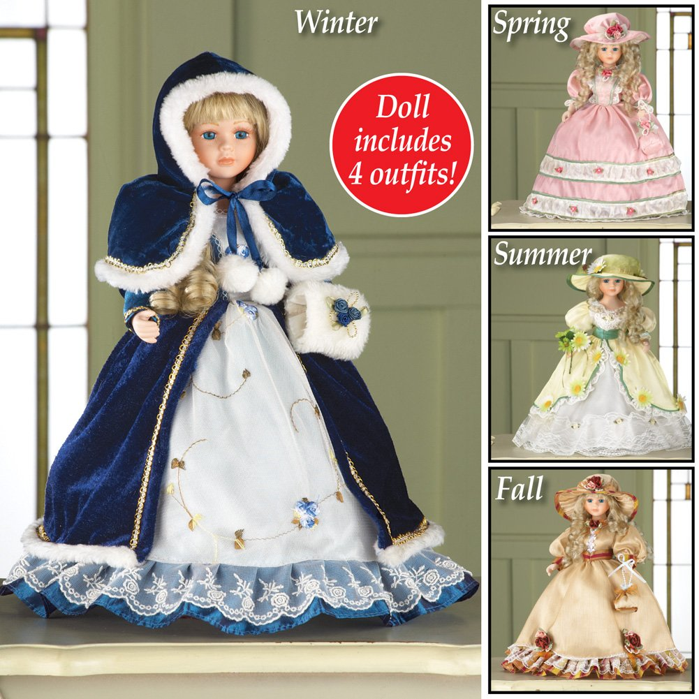 Four Seasons Collectible Porcelain Doll