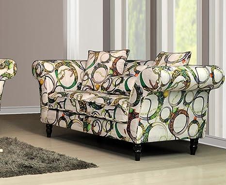 LoveSofas New Bianca Wave 2 Luxury Velvet Tufted Fabric Sofa