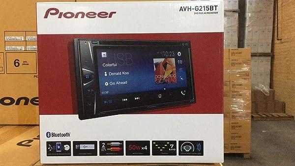 Pioneer AVH-G215BT 2 DIN DVD Multimedia AV Receiver w/ 6.2 Display & Bluetooth