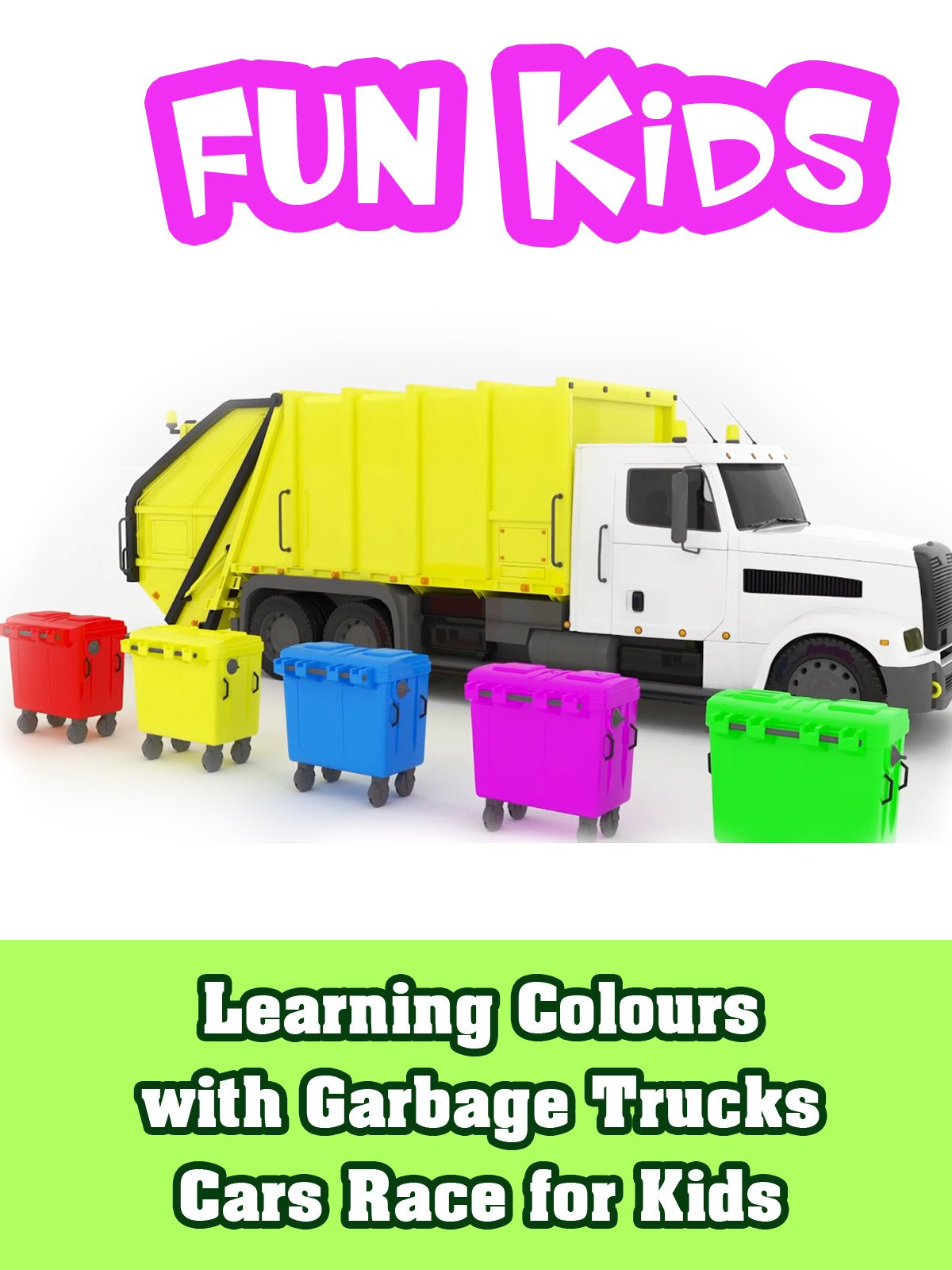 Learning Colours with Garbage Trucks Cars Race for Kids