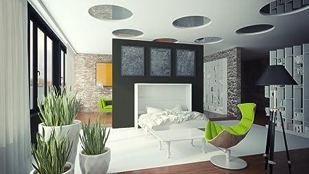 Armario Murphy bed Horizontal cuna Smart cuna 120 cm Horizontal blanco