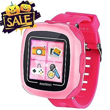 Jeu Enfants Smart Watch pour enfants Garçons filles Jouets Montre Poignet avec écran tactile Appareil photo Jeux Timer Réveil Podomètre Smartwatch Wristwatch Wristband (02Rose)