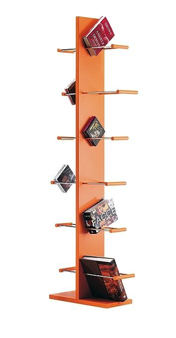 Libreria a scaffali personalizzabile Conbuki arancio
