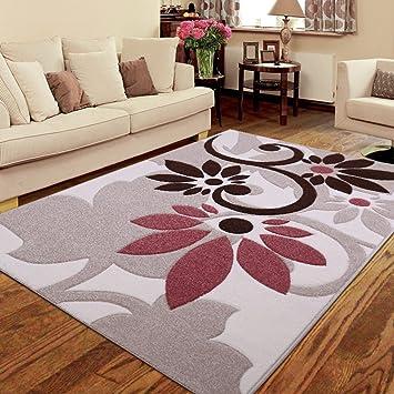 ZWL Alfombra lavable a máquina Dormitorio Rectángulo de la cama Completo Sala de estar Sofá Mesa de centro Hogar Estante de almacenaje. z ( Color : A , Tamaño : 120*170CM )
