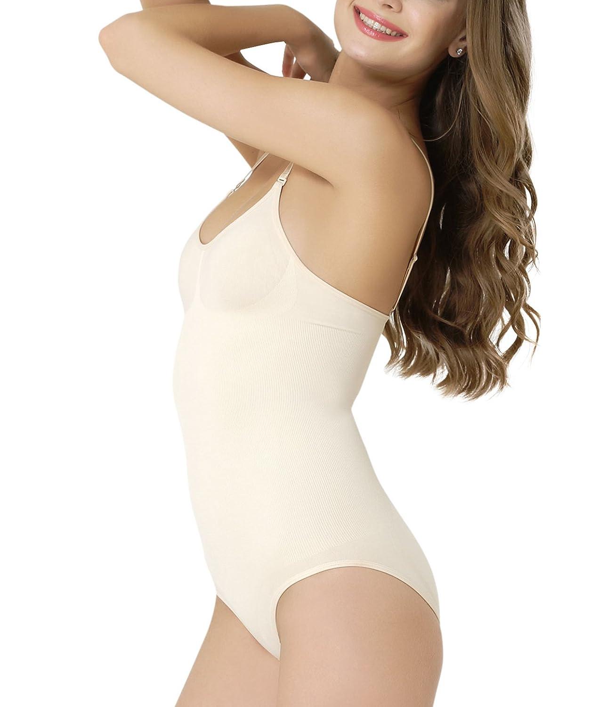Formeasy Shapewear Damen Formender Mieder-Body Bauchweg-Shaper Bodysuit