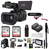 Panasonic HC-X1000 4K-60p/50p Camcorder (Black) + Focus Deluxe Accessory Bundle