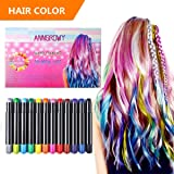 anngrowy Hair Chalk for Girls Kids Birthday Gifts for Girls Kids Temporary Hair Color Chalks pens for Any Age(3+) Washable Hair Dye for Dark Hair Color Spray Hair dye for Halloween Christmas (Color: Black,blue,purple,dark Red,rose Red,pink,gold,green,sky Blue,white,silver)