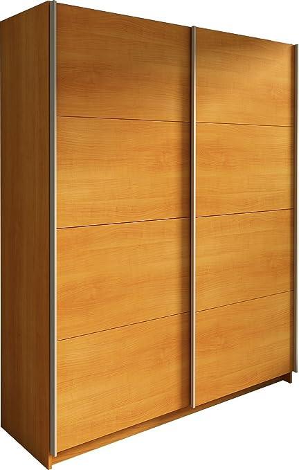 Trasman 1035cerezo Kleiderschrank mit 2 Schiebeturen, melaminharzbeschichtete Holzspanplatten, kirsch, 160 x 54 x 200 cm