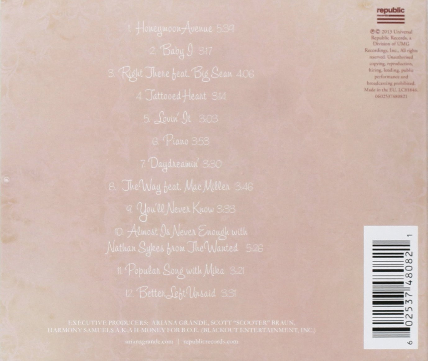Collectionydwn Yours Truly Ariana Grande Tracklist on Gallery Of Westward Expansion