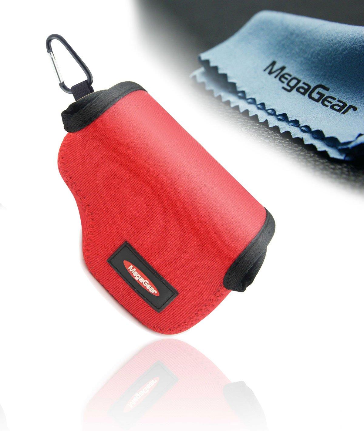 MegaGear Ultra Ligero Funda Bolsa Protector Neopreno Cámaras Réflex Para Sony NEX-5 TL, Sony NEX-5R, Sony NEX-3N, Sony A5000, Sony A5100 con Sony SELP1650 16-50mm (Rojo)  Electrónica Revisión del cliente