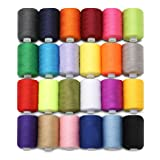 KING DO WAY 24 Assorted Colors Polyester Sewing Thread Spool 1000 Yards Each (Color: 24 Colors, Tamaño: 24PCS)